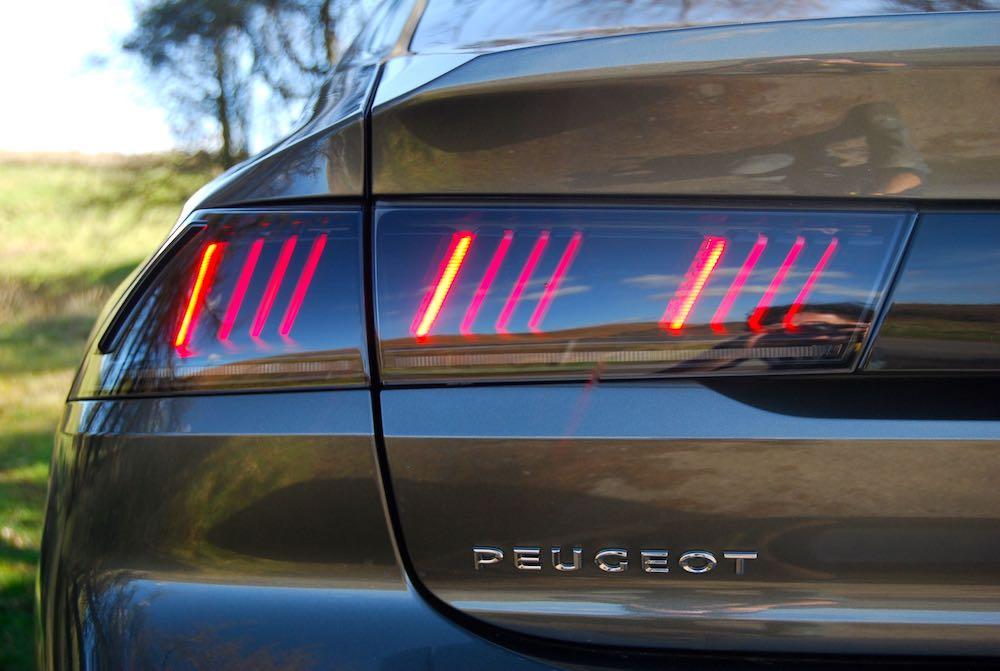 peugeot 508 rear light review roadtest