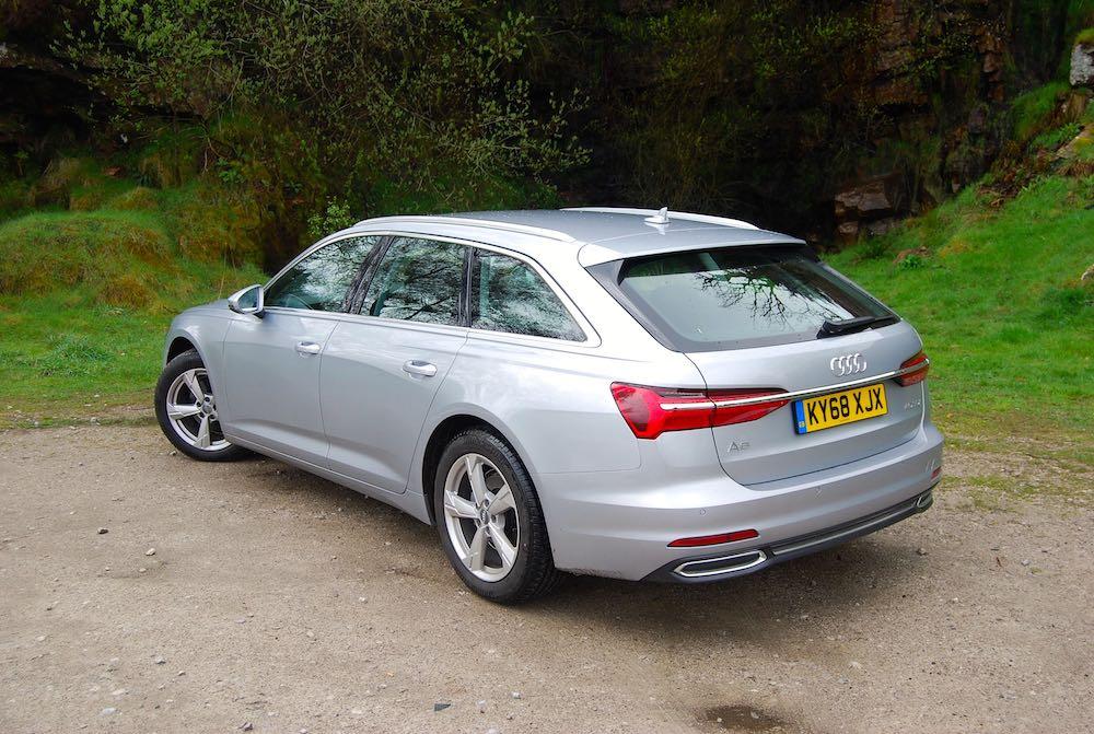 audi a6 avant silver rear side review roadtest