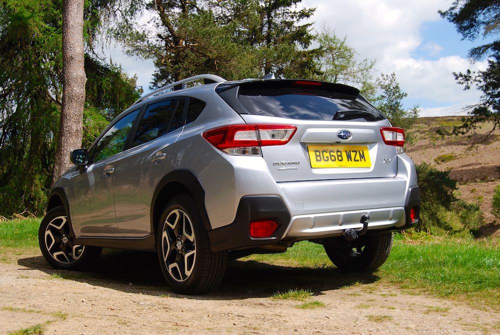 subaru xv silver rear side review roadtest