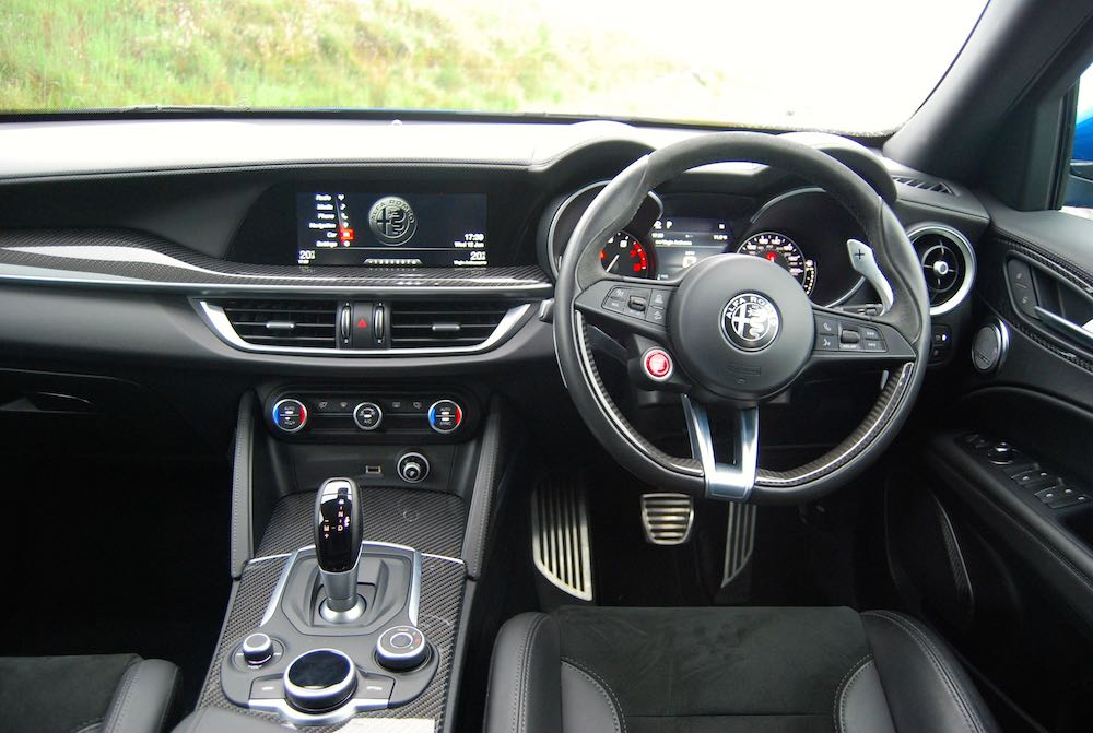 2019 alfa romeo stelvio quadrifoglio interior review roadtest