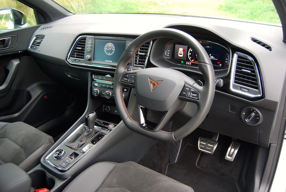 2019 cupra ateca interior dashboard review roadtest