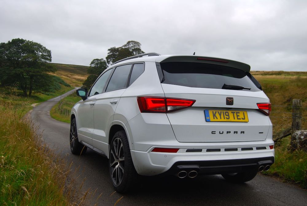 2019 cupra ateca white rear side review roadtest