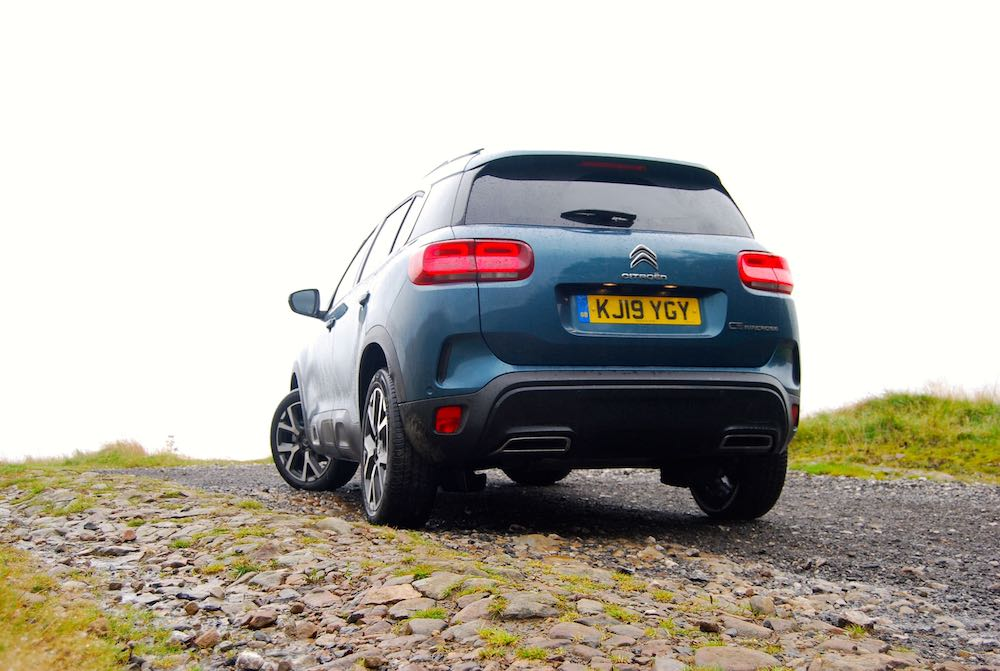 2019 citroen c5 aircross rear blue review roadtest