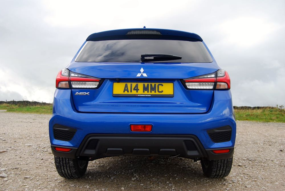 2019 mitsubishi asx rear blue review roadtest