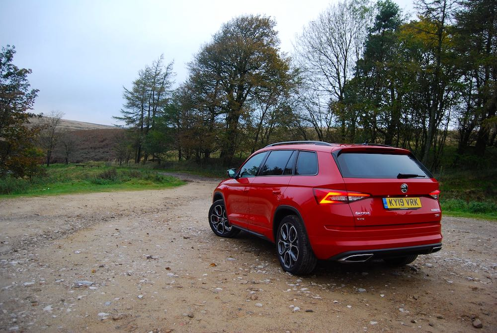 2019 skoda kodiaq vrs rear side red review roadtest