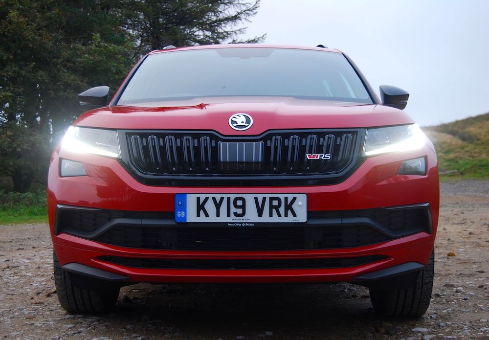2019 skoda kodiaq vrs red front review roadtest