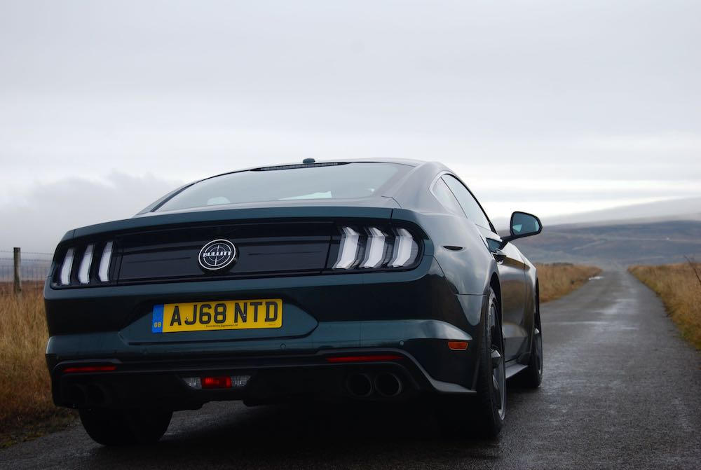 2020 ford mustang bullit green rear side review roadtest