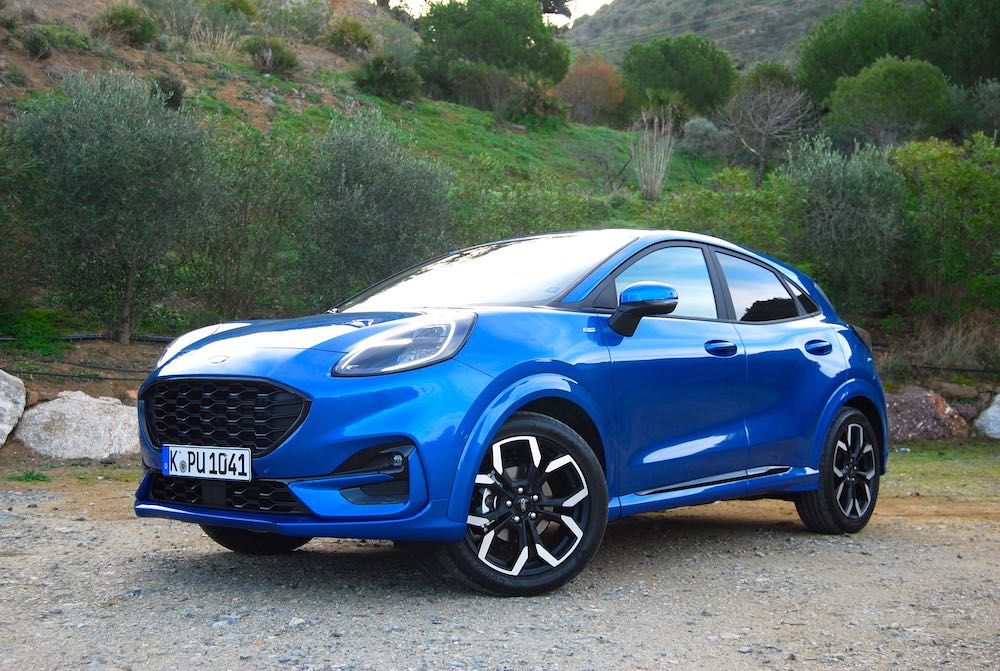 2020 new ford puma blue front side review roadtest