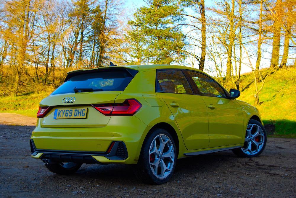2020 audi a1 sportback yellow side rear review roadtest