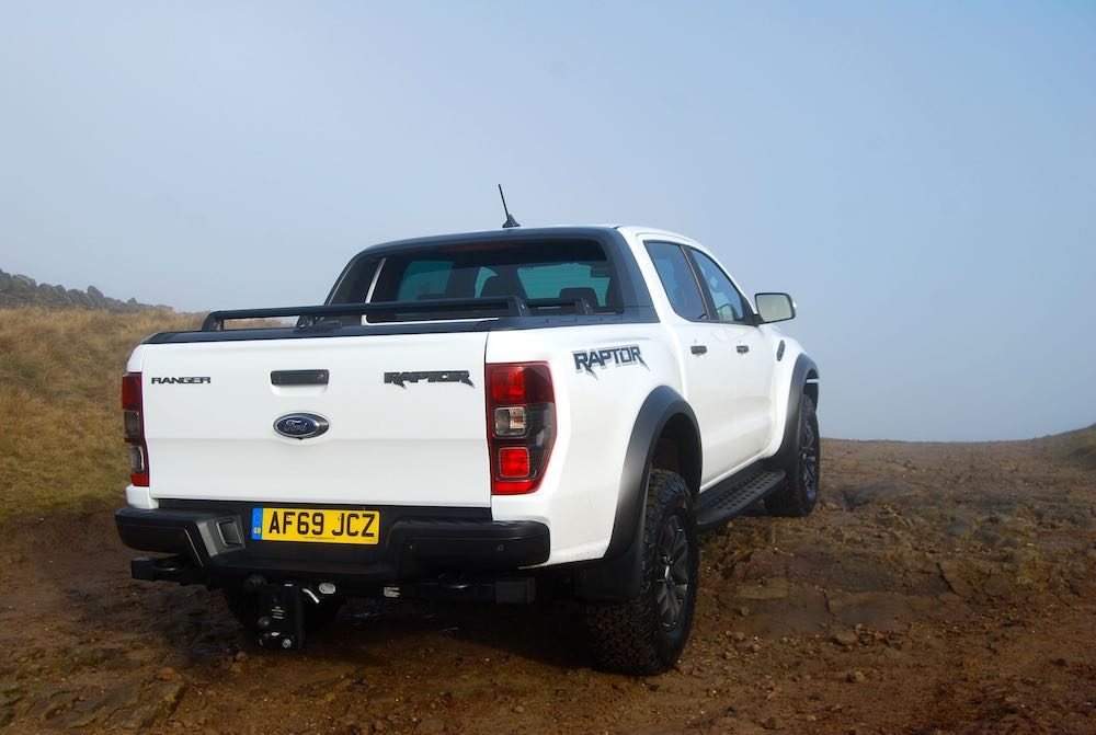 2020 ford ranger raptor white rear review roadtest