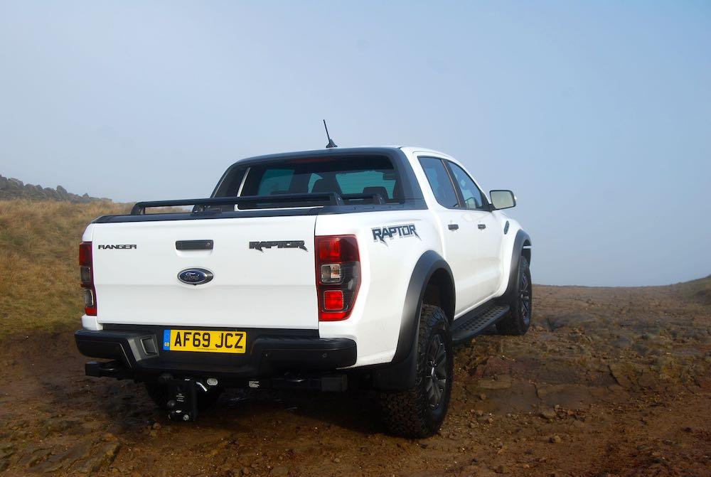 2020 ford ranger raptor white rear review roadtest