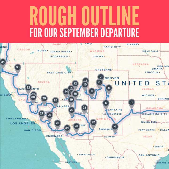 Rough Travel Outline for Our September Departure