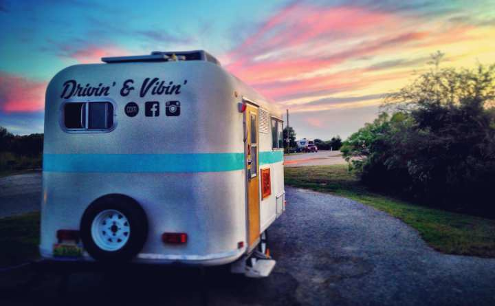 Our 1985 Fiber Stream Camper – and its many modifications.