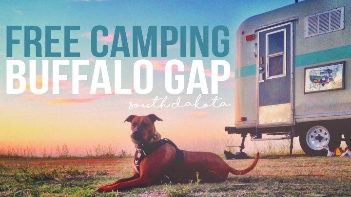 Free Camping at Buffalo Gap National Grassland : The Badlands of South Dakota