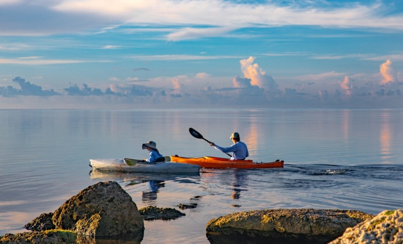 Lightweight kayaks will get you closer to the water and the action as they are more maneuverable. They are great for solo trips!