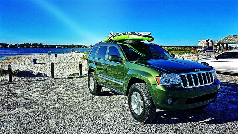 The standard Jeep Cherokee has a meager towing capacity of 2000 pounds.