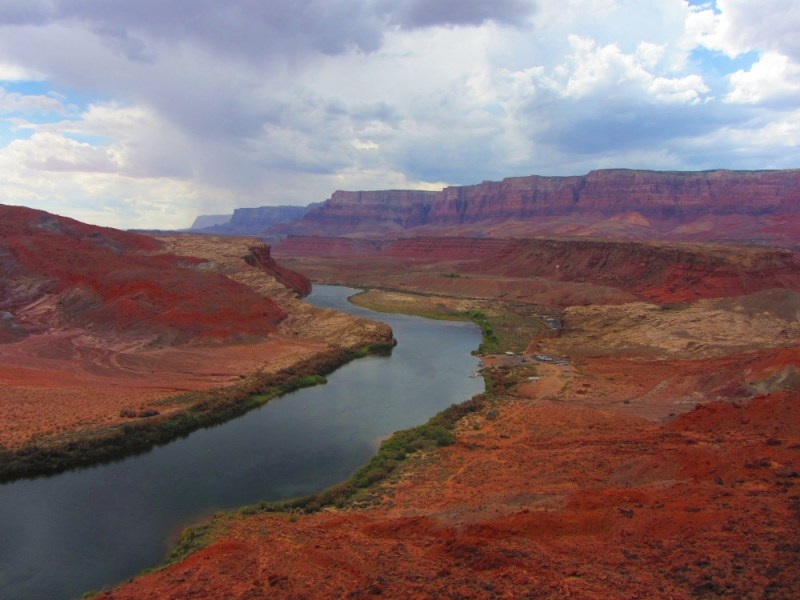 Lees Ferry is the only place within Glen Canyon where visitors can drive to the Colorado River.