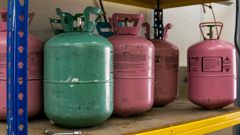 propane tanks lined up
