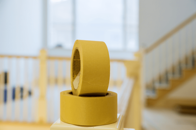 Close up image of two rolls of tape.