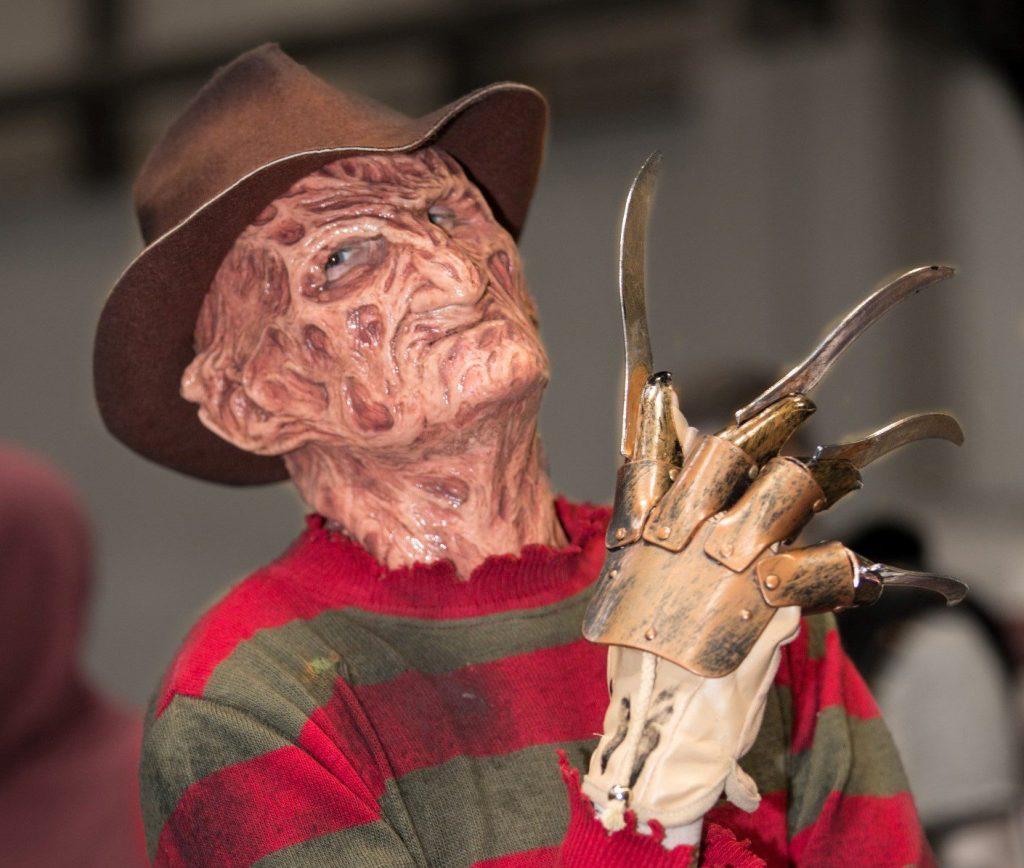 Man dressed up as Freddy Krueger