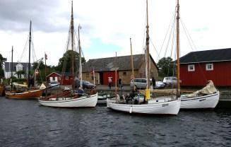 Concordia, Karen og Mæfikken i Dybvig Havn.