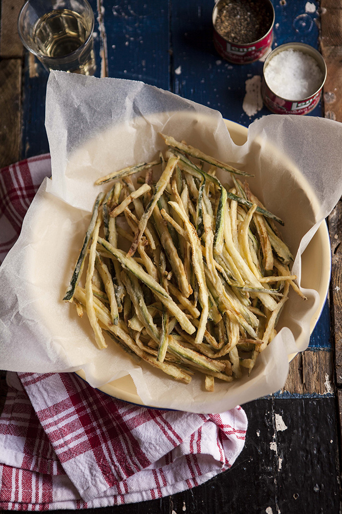 zucchini shoestring and ribbon fries