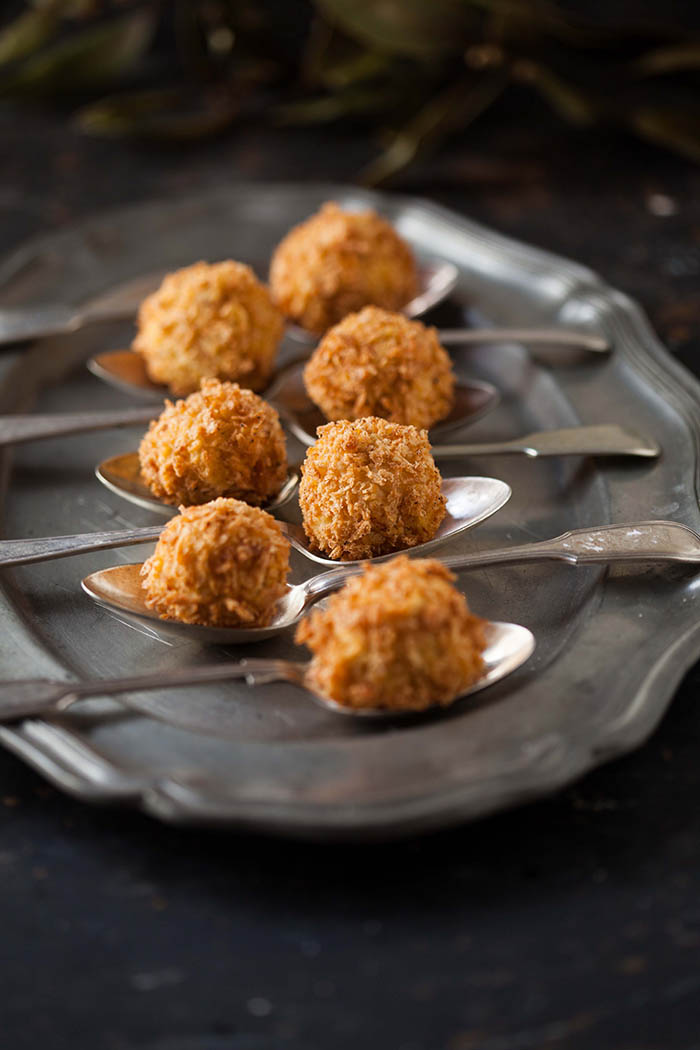 cauliflower and taleggio cheese croquettes