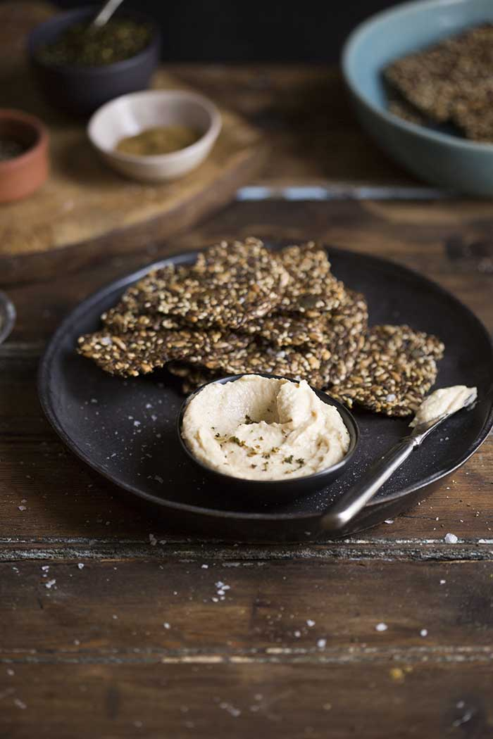 Delicious gluten free seeded crackers