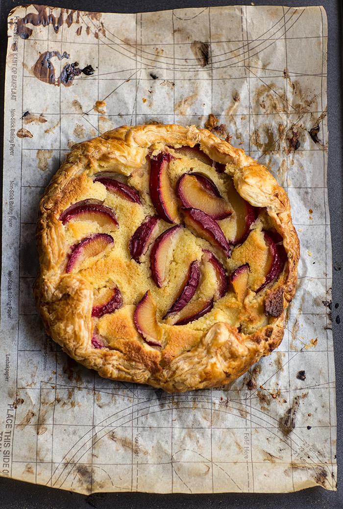 easy plum & frangipane galette