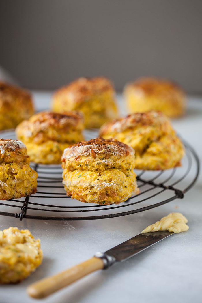 butternut scones with cheese and herbs {video}