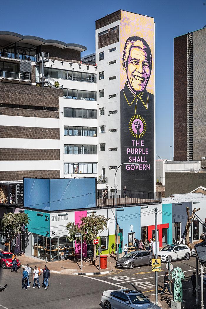 Mural of Nelson Mandela, Braamfontein, Johannesburg, South Africa