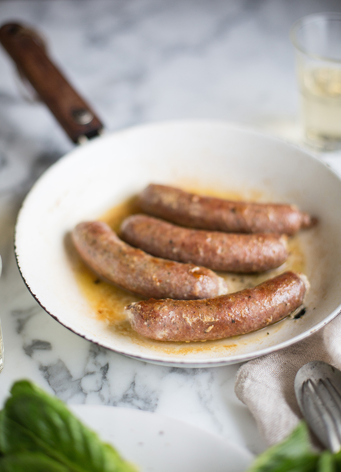 Argentian chorizo sausages with the perfect lentil salad