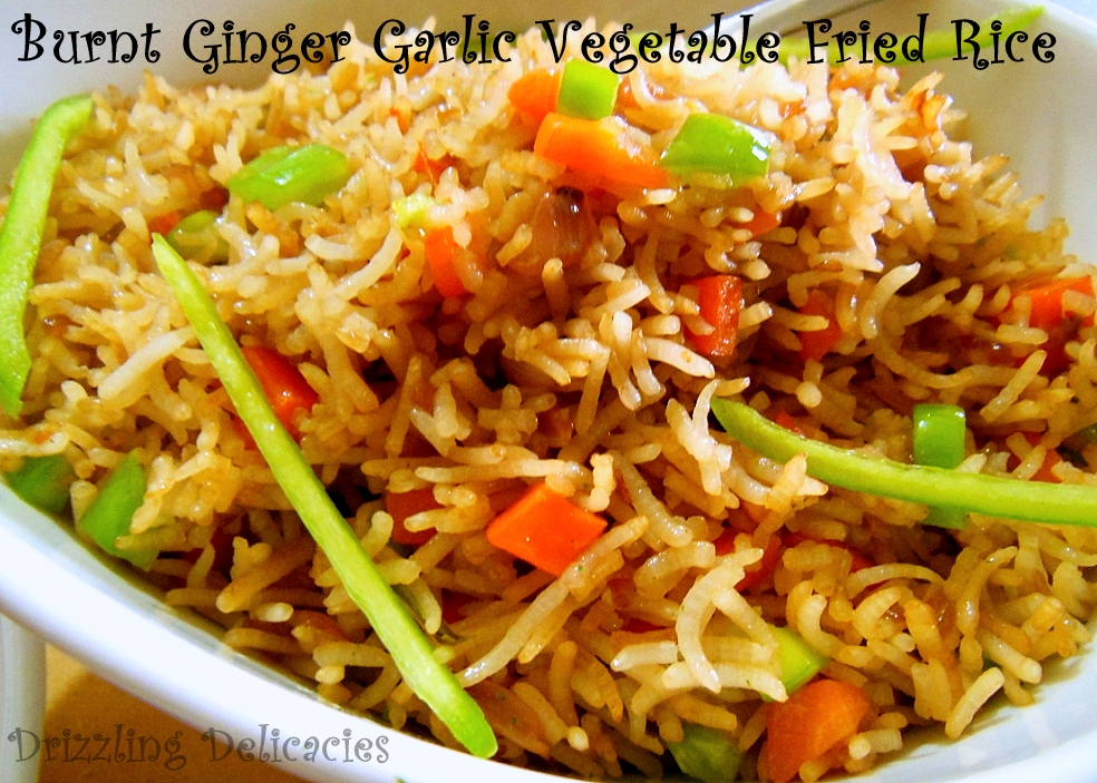 Burnt Ginger Garlic Vegetable Fried Rice (1/6)