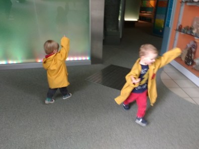 Enjoying the museum with G