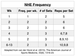 Nordic Hamstring Exercise Frequency