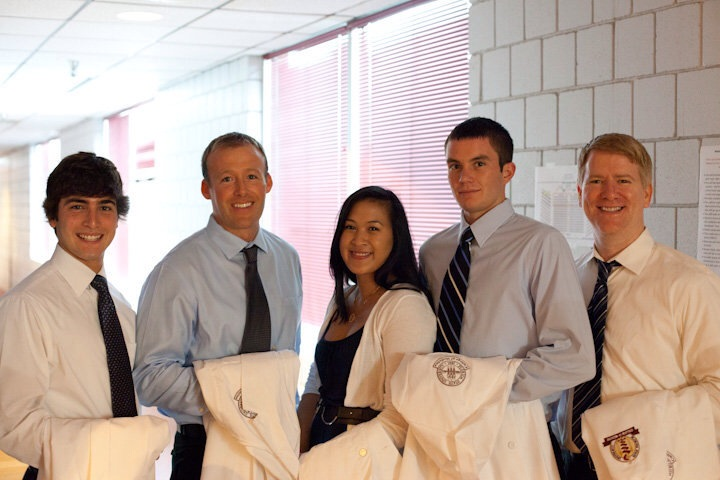 Me and med school friends at our white coat ceremony