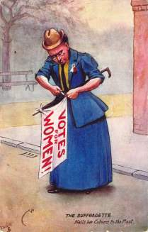 The Suffragette Nails her Colours to the Mast