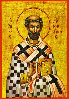 Orthodox Icon of North African Saint, Augustine of Hippo 229x327px