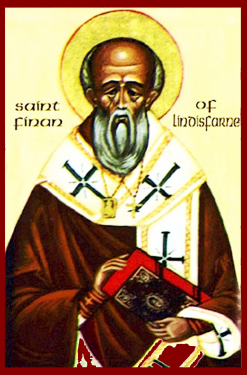 Icon of St. Finan of Lindisfarne