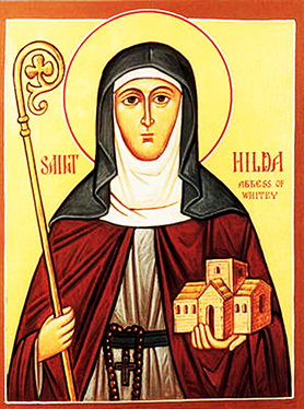 Orthodox Christian Icon of English Saint, Hilda of Whitby
