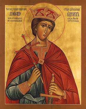 Orthodox Icon of English Saint, King Edward the Martyr 292x368px