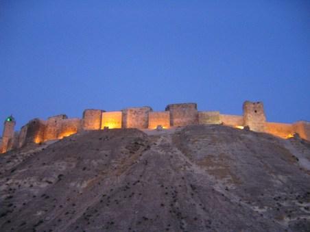 Aleppo Citidel at night AD
