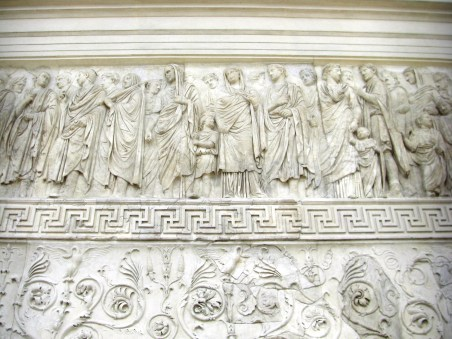 Ara Pacis Relief with Agrippa and Livea