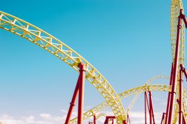 Image is of a rollercoaster to go with the metaphor of a ride