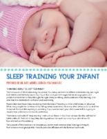 Sleep Training Your Infant