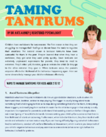 Taming Tantrums