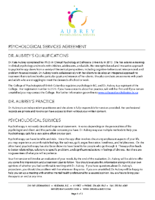 Psychological Services Agreement
