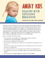 Explosive Behaviour in Children