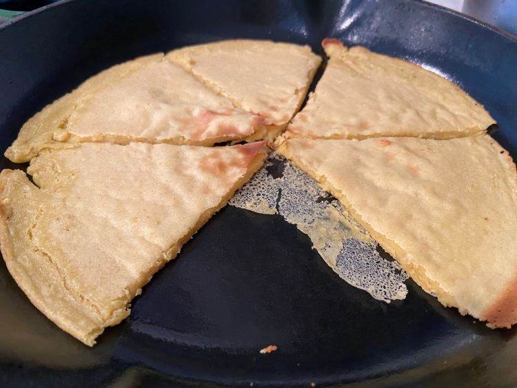 Socca: chickpea pancake; blog post by Dr. Kathleen Cannon