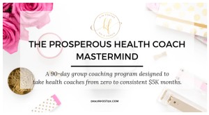 Business Coaching for Health Coaches